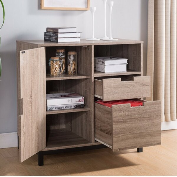 Burrowes 2-Drawer Vertical Filling Cabinet with Elegant Storages by Foundry Select