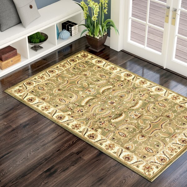 Fairmount Green Area Rug by Three Posts