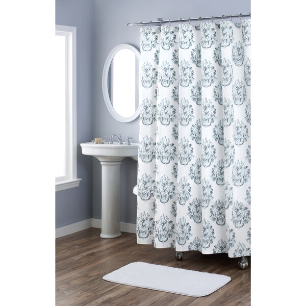 Damask Cotton Shower Curtain by Nicole Miller