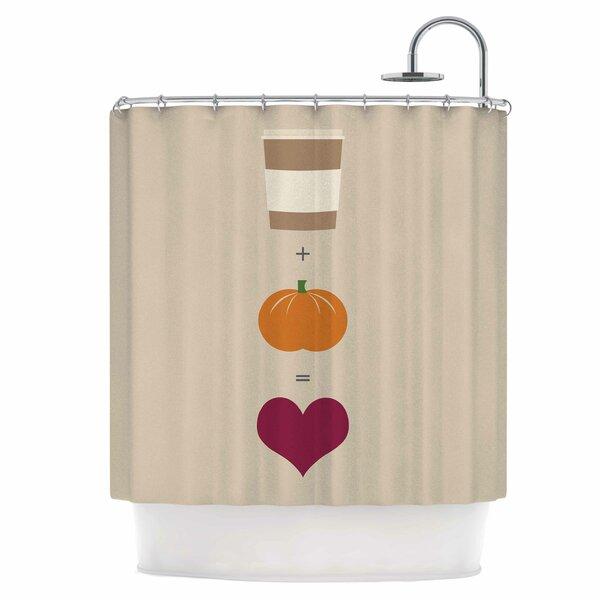Pumpkin Spice Latte Shower Curtain by East Urban Home