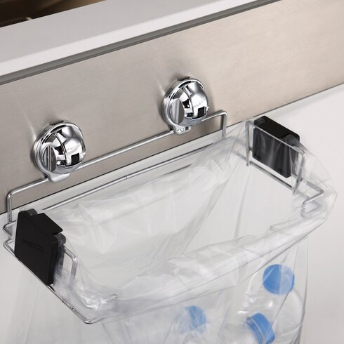 Portable Plastic Trash Bag Holder For Kitchen, Grill, Recycle