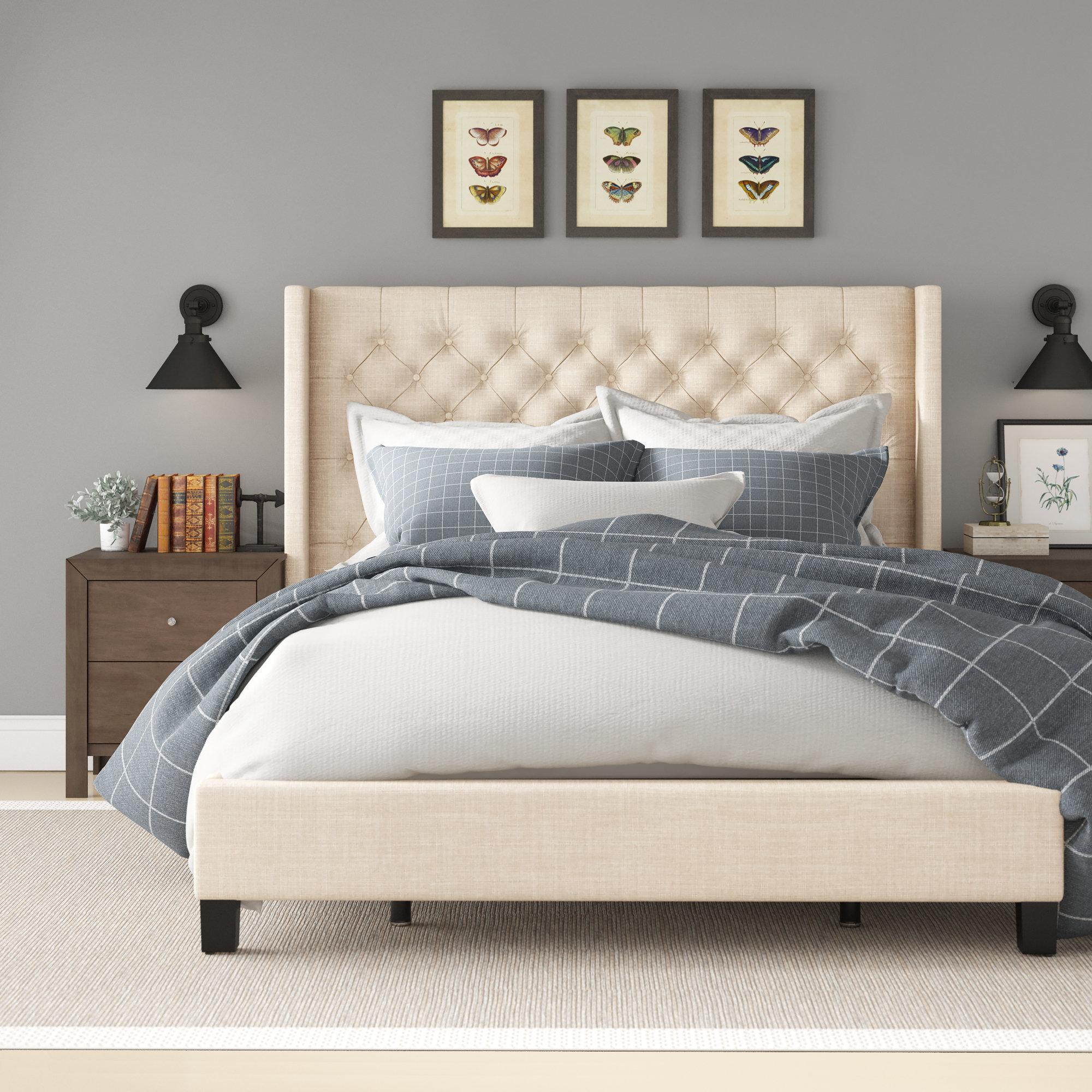 Wiggins Upholstered Low Profile Standard Bed Reviews Birch Lane