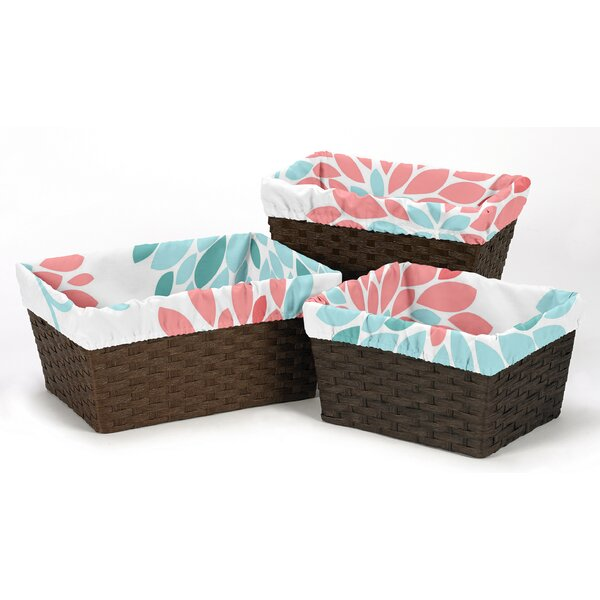 Emma 3 Piece Basket Liner Set by Sweet Jojo Designs