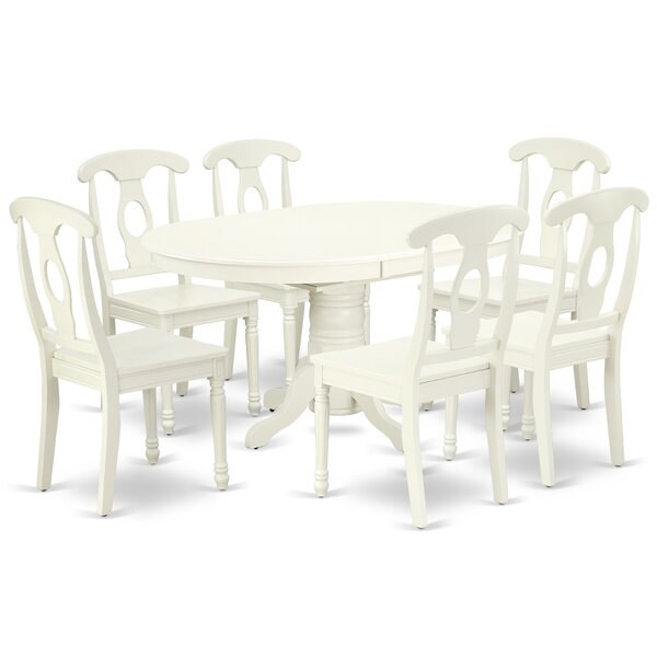 Labombard 7 Piece Extendable Solid Wood Dining Set by August Grove