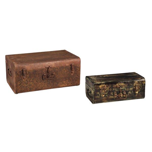 Mccutchen 2 Piece Storage Trunk Set by Williston Forge