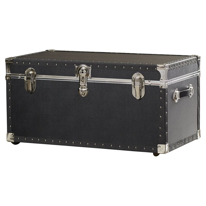 Demers Oversize Trunk With Wheels In Black