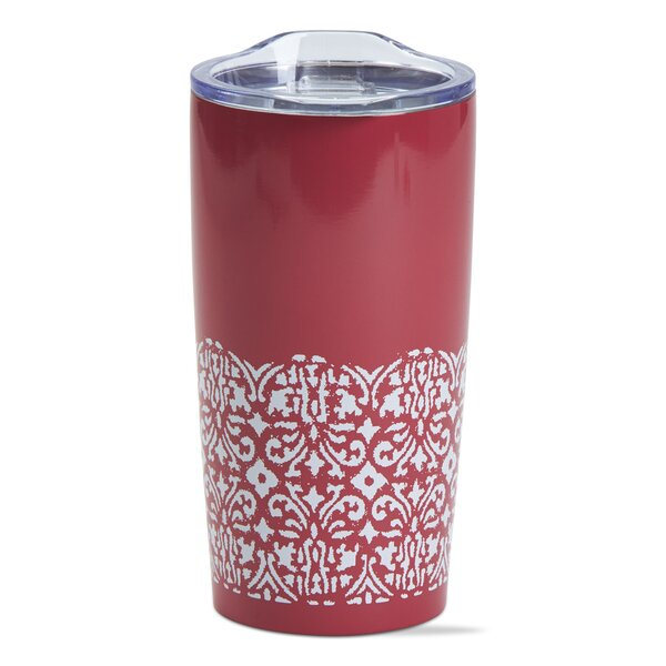 Ikat Double Wall Stainless Steel 18 oz. Insulated Tumbler by TAG