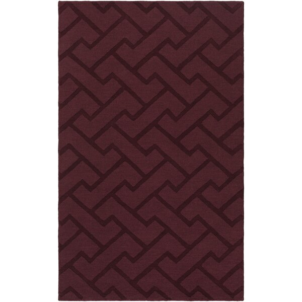 Villegas Hand-Loomed Eggplant Area Rug by Wrought Studio