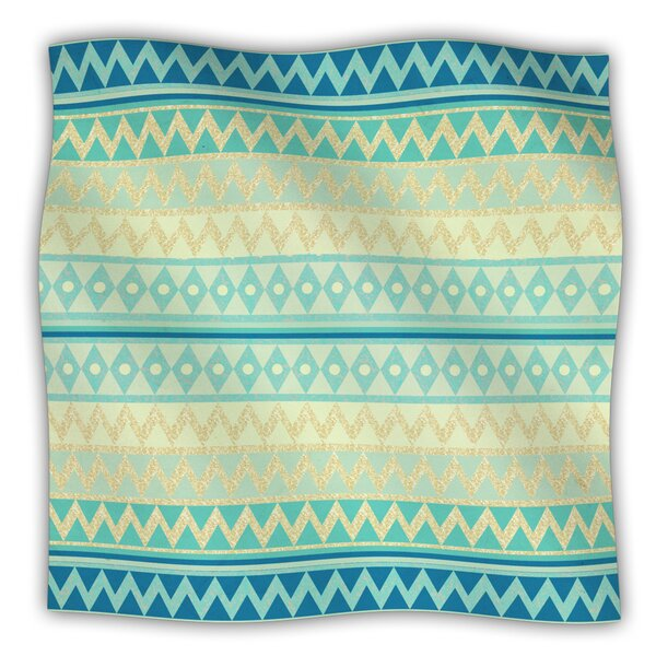 Glitter Chevron Fleece Blanket by East Urban Home