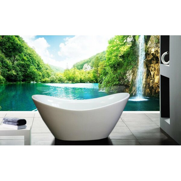 Squadra 66.9 x 29.5 Freestanding Soaking Bathtub by Morenobath