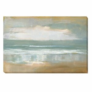 Shoreline by Caroline Gold Painting Print on Wrapped Canvas by Artistic Home Gallery
