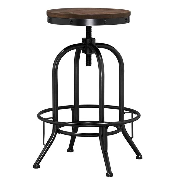 Alvord Adjustable Height Bar Stool by Williston Forge