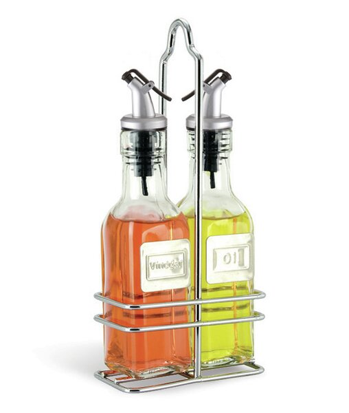 6 Oz Oil and Vinegar Bottle Set with Caddy by Cuisinox