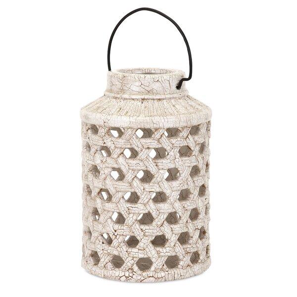 Veranda Ceramic Lantern by Woodland Imports