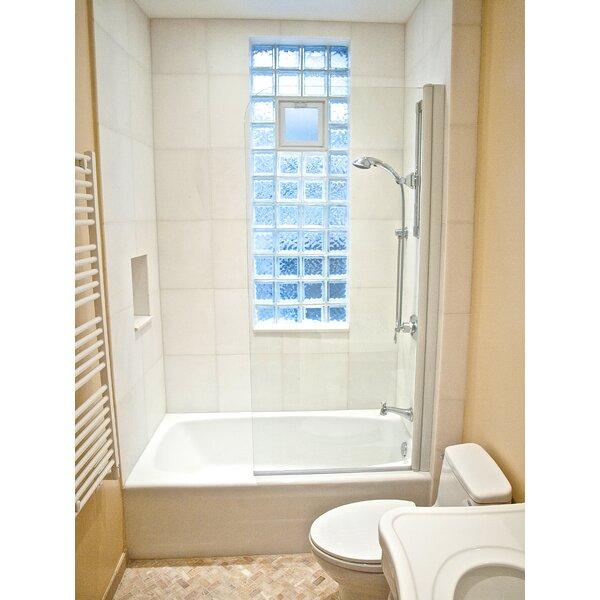 70 x 70 Pivot Semi-Frameless Tub Door by Ark Showers
