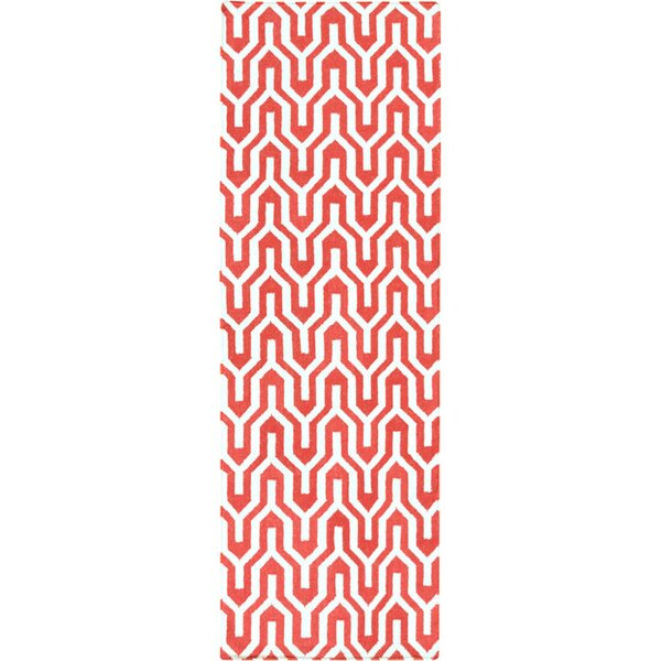 Fallon Hand-Woven Strawberry Red Area Rug by Jill Rosenwald Home