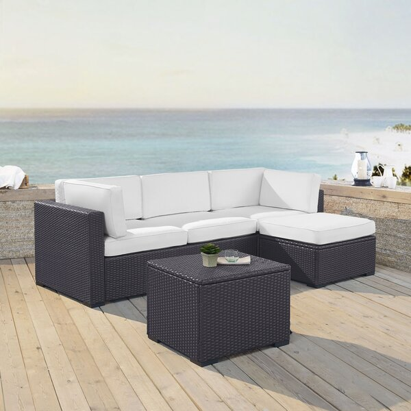 Dinah 4 Piece Sectional Set with Cushions by Highland Dunes