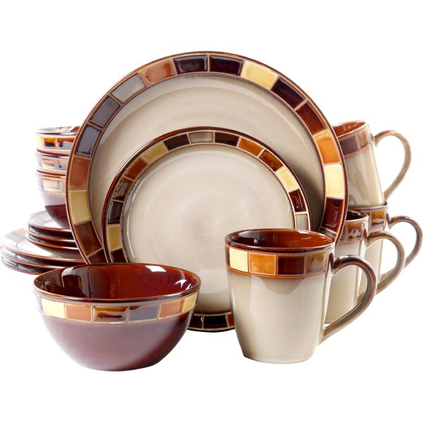 Virgina 16 Piece Dinnerware Set, Service for 4 by