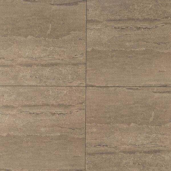 Pietra Dunes 18 x 18 Porcelain Field Tile in Beige by MSI