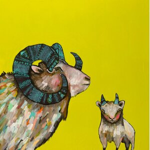 'Billy and Billy Jr.' by Eli Halpin Painting Print on Wrapped Canvas by GreenBox Art