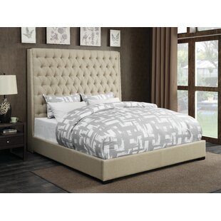 Gauthier Upholstered Panel Bed by Three Posts