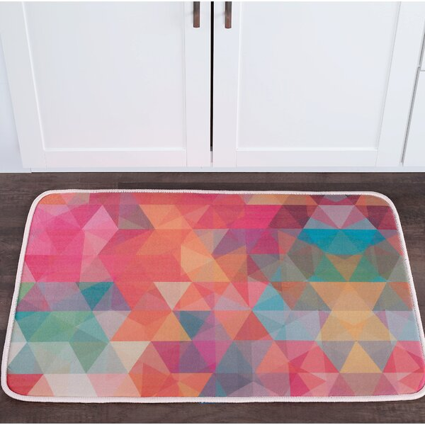 Knepp Cubes Foam Core Bath Rug by Zipcode Design
