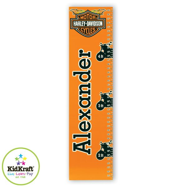 Personalized Harley Davidson Growth Chart by KidKraft