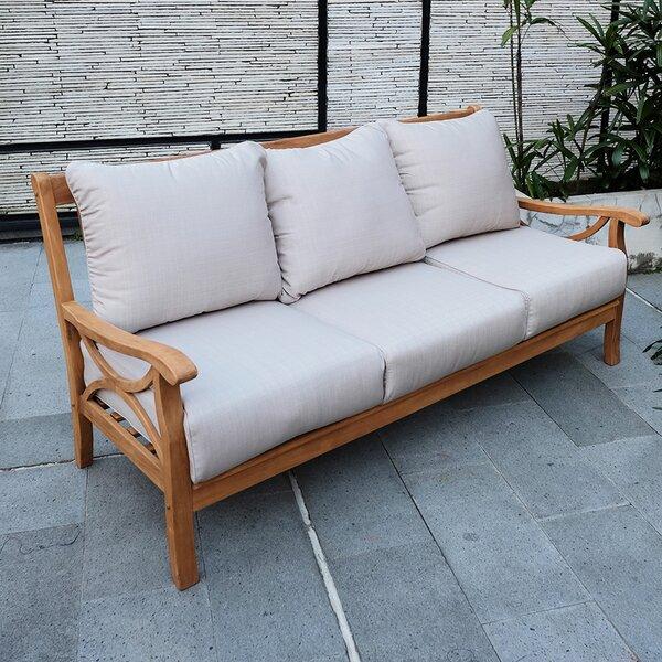 Brunswick Teak Patio Sofa with Cushions by Birch Lane™ Heritage