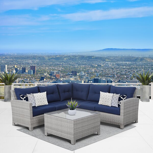 Cicero 6 Piece Sectional Seating Group with Cushions by Sol 72 Outdoor