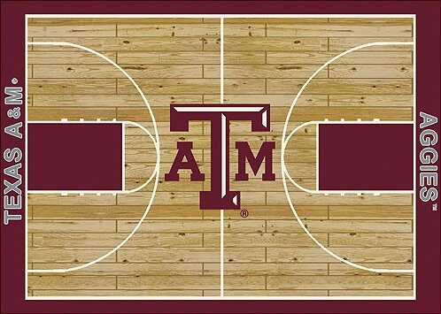 NCAA College Home Court Texas A&M Novelty Rug by My Team by Milliken