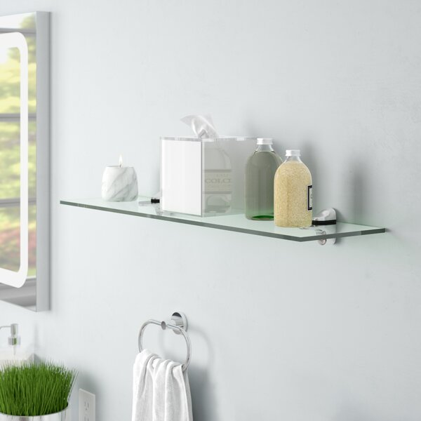 Clear Tempered Glass Floating Shelf by Wade Logan