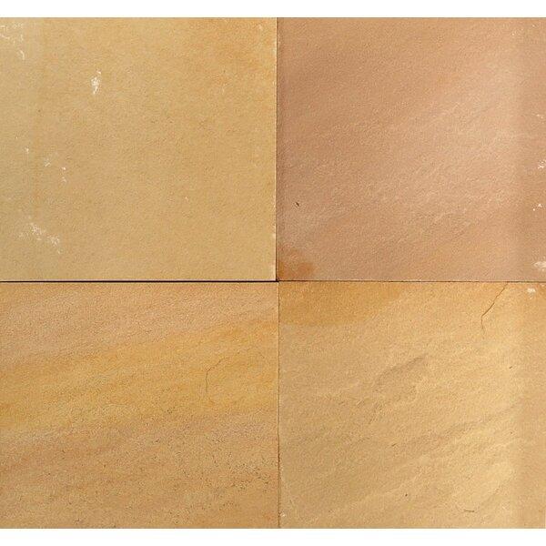 Natural Cleft Face, Gauged Back 12x12 Sandstone Field Tile