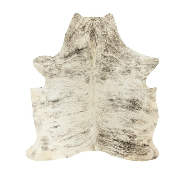 Brownlow Genuine Cowhide Gray Area Rug by Foundry Select