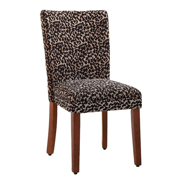Pfeifer Leopard Parsons Chair (Set of 2) by World Menagerie