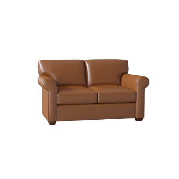 Rachel Leather Loveseat by Wayfair Custom Upholstery Wayfair Custom Upholstery™