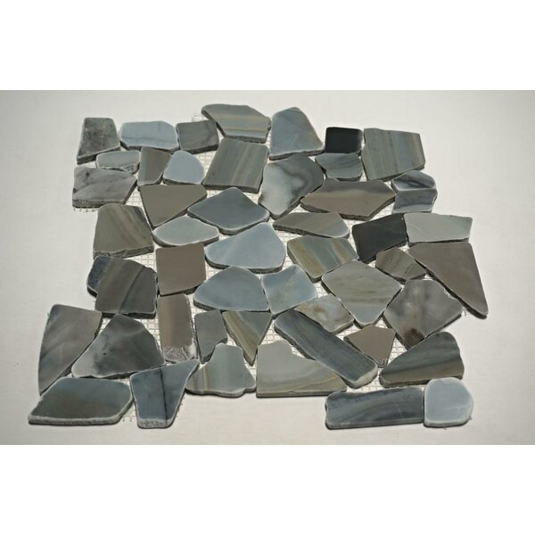 Cinderella Random Sized Marble Mosaic Tile in Blue/Gray by FuStone