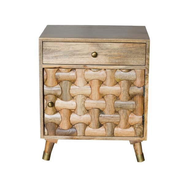 Luz 1 Drawer Nightstand by Millwood Pines Millwood Pines
