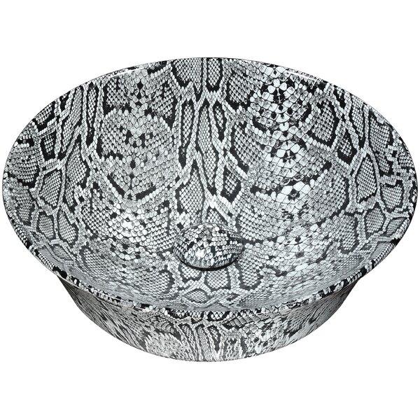 Diamond Back Vitreous China Circular Vessel Bathroom Sink