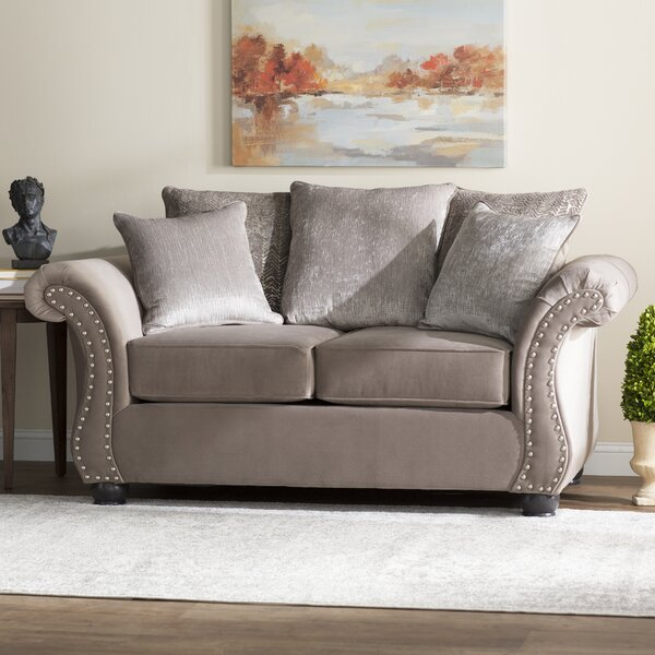 The Most Stylish And Classic Agnes Loveseat by Alcott Hill by Alcott Hill