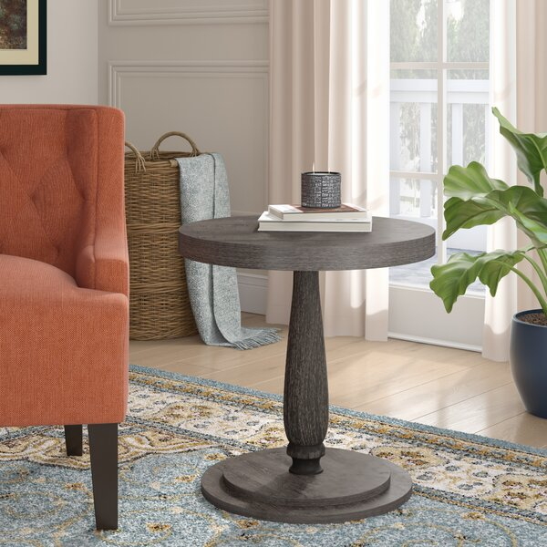 Squire Circular End Table by Three Posts