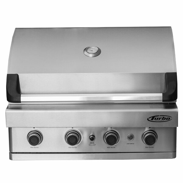 Turbo 4-Burner Built-In Gas Grill by Barbeques Gal