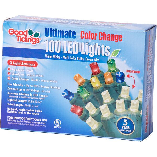 LED Change Mini 100 Light String Lights by The Holiday Aisle