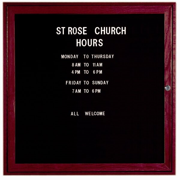 Changeable Enclosed Wall Mounted Letter Board by AARCO