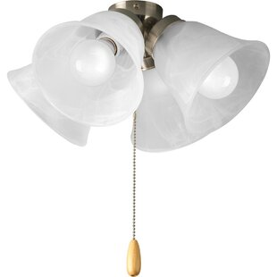 Reviews 4-Light Branched Ceiling Fan Light Kit By Winston Porter