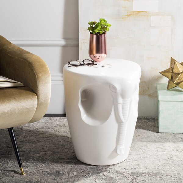 Norristown Elephant Garden Stool by Bloomsbury Market