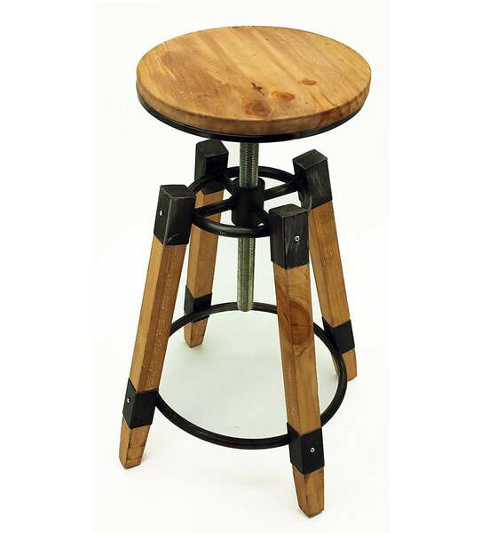 Wyland Adjustable Height Bar Stool (Set of 2) by Vandue Corporation