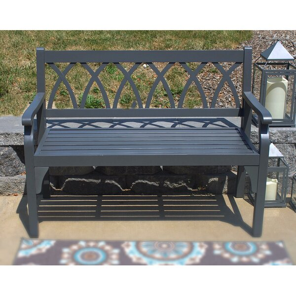 Dolores Elegant Outdoor Wooden Garden Bench by Highland Dunes