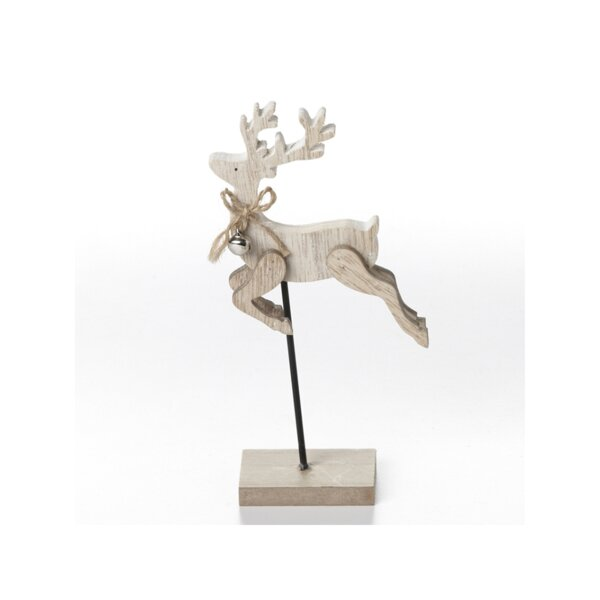 Schutt Wooden Deer with Base Decoration by The Holiday Aisle