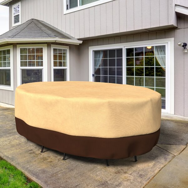 All-Seasons Oval Patio Table and Chairs Combo Cover by Budge Industries