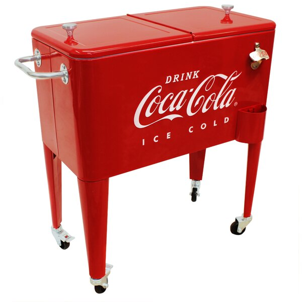 65 Qt. Coca-Cola Embossed Ice Cold Cooler by Leigh Country